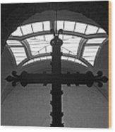 Crucifix And Skylight Wood Print