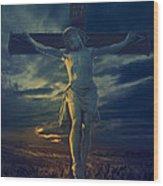 Crucifixcion Wood Print
