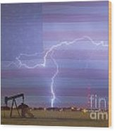 Crude Oil And Natural Gas Striking Across America Wood Print
