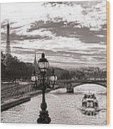Cruise On The Seine Wood Print