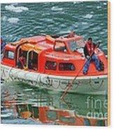 Cruise Ship Tender Boat  Wood Print