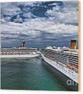 Cruise Ships Port Everglades Florida Wood Print