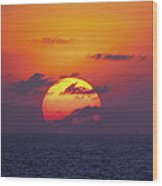 Cruise Sunset Wood Print