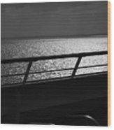 Cruisin In Black And White Wood Print