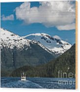 Cruising Alaska Wood Print