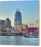 Cruising By Cincinnati Wood Print by Mel Steinhauer