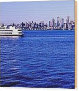 Cruising Elliott Bay Wood Print