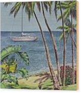 Cruising In Paradise 2 Wood Print