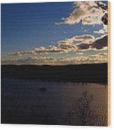Cruising Into The Sunset Wood Print