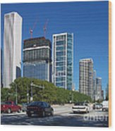 Cruising North On Lake Shore Drive In Chicago Wood Print