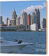 Cruising Past Detroit Wood Print