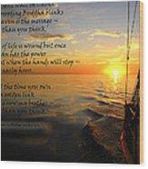 Cruising Poem Wood Print