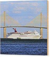 Cruising Tampa Bay Wood Print by David Lee Thompson
