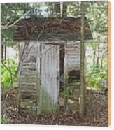 Crumbling Old Outhouse Wood Print
