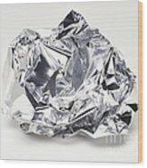 Crumpled Aluminum Foil Wood Print