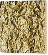 Crumpled Gold Foil Wood Print