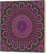 Crushed Pink Velvet Kaleidoscope Wood Print