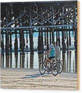 Crusin The Beach Wood Print