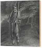 Crusoe Goes Hunting For Food,  Dressed Wood Print