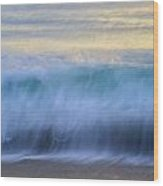 Crying Waves Wood Print