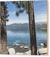 Crystal Bay Wood Print