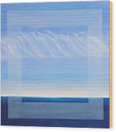Crystal Blue Horizon - Center Panet Wood Print