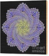 Crystal Blue Salvia Wood Print