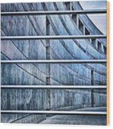Crystal Bridges Museum Greytones Wood Print by Gia Marie Houck