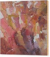 Crystal Cascade Wood Print