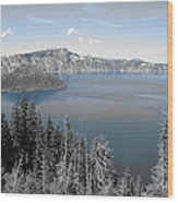 Crystal Clear Day Wood Print