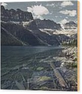 Crystal Clear Mountain Lake Wood Print