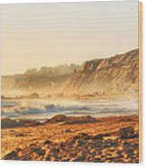Crystal Cove At Sunset 1 Wood Print