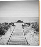 Crystal Cove Overlook Black And White Picture Wood Print