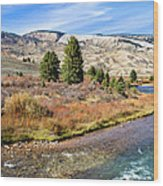 Crystal Creek In The Gros Ventre Wood Print