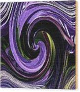 Crystal Fountain Twirls Wood Print