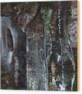 Crystal Ice Wood Print