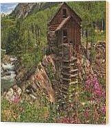 Crystal Mill Wildflowers Wood Print