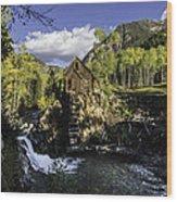 Crystal Mills Mine Wood Print