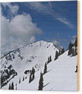 Crystal Mountain Bluest Sky Wood Print