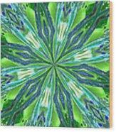 Crystal Ocean Wood Print by Donna Blackhall