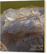 Crystal On Rock Wood Print