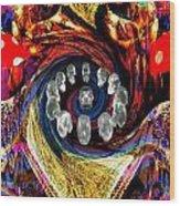 Crystal Skulls Wood Print by Jason Saunders