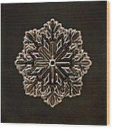 Crystal Snowflake Wood Print