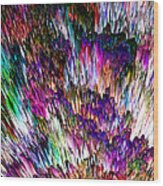 Crystalline Crimsonicity Wood Print