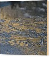 Crystalline Surface Of Mirror Lake In Yosemite Valley Wood Print