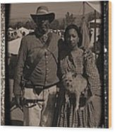 Csa Cavalryman And Wife Wood Print