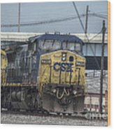Csx 7745 Engine 01 Wood Print