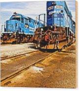 Csx Railroad Wood Print
