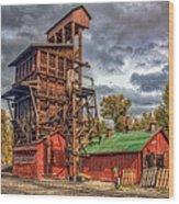 Coal Tipple Wood Print