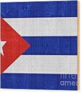 Cuba Flag Wood Print